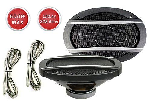 Vetrineinrete Casse per auto 500 watt 4 vie coppia di altoparlanti coassiali stereo tweeter woofer 6x9' 500w C30