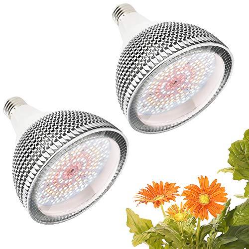 LED Pflanzenlampe 150W Tageslichtweiß Vollspektrum Pflanzenlicht, 200 LEDs Wachstumslampe, E27 Led Grow Lampe für Gewächshäusern,Innengärten,Zimm(2 pack)