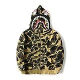 A Bathing Ape Camo Bape Zip Shark Head Camouflage Hoodie Coat Long Sleeve Jacket