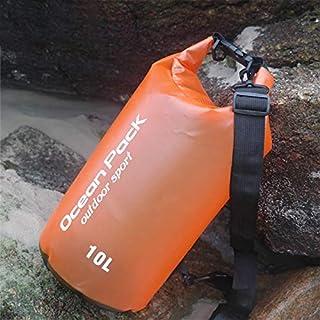 FFX Outdoor Waterproof Single Shoulder Dry Bag Dry Sack PVC Barrel Bag, Capacity: 10L (Orange) Outdoor Bags (Color : Orange)