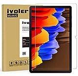 ivoler Protector de Pantalla para Samsung Galaxy Tab S7 FE 5G y Samsung Galaxy Tab S7+ y Samsung Galaxy Tab S7 Plus 12.4 Pulgadas (T970 / T976B), Cristal Vidrio Templado Premium