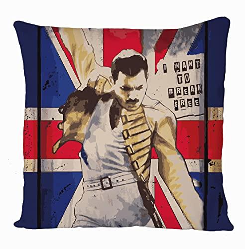 daffy Freddie Mercury Funda de cojín