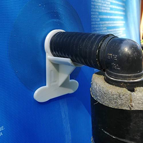 2 Soportes de Manguera para Piscina (Grandes): Mantenimiento de Tubos de 35 mm a 44 mm, por Ejemplo Intex