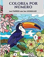 Colorea por número las flores con los animales