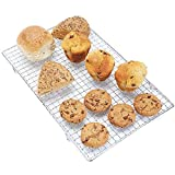 Andrew James Cooling Rack for Baking   Great for Cake Bread Biscuits & Pastries   Coated Cast Iron Oven Safe Rectangular Rack with Legs 40cm x 25cm