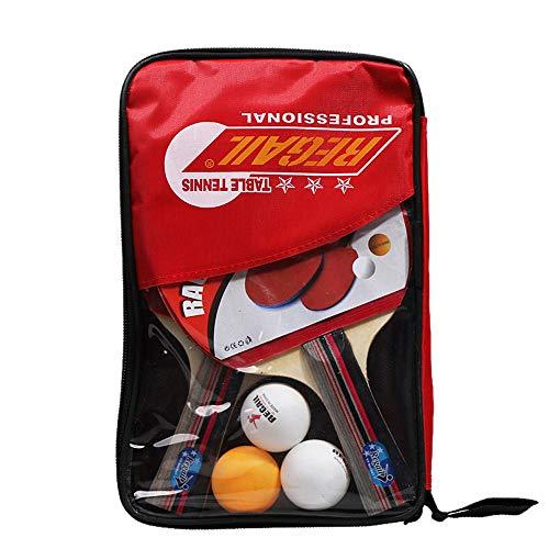 Festnight Juego de Palas de Ping Pong de Goma Juego de Raquetas de Tenis de Mesa Bate de Agarre Horizontal y Vertical Opcional