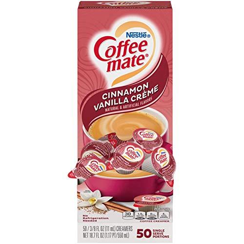 Liquid Coffee Creamer, Cinnamon Vanilla, 0.375 oz Mini Cups, 50/Box