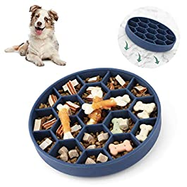 Iokheira Dog Slow Feeder Bowl, Newest Slow Eating Dog Bowl With Super Bottom Suction Cup, Safety Durable Food Bowl for Medium and Large Dogs