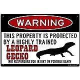 FemiaD Leopard Gecko Schild, lustige Metallschilder,