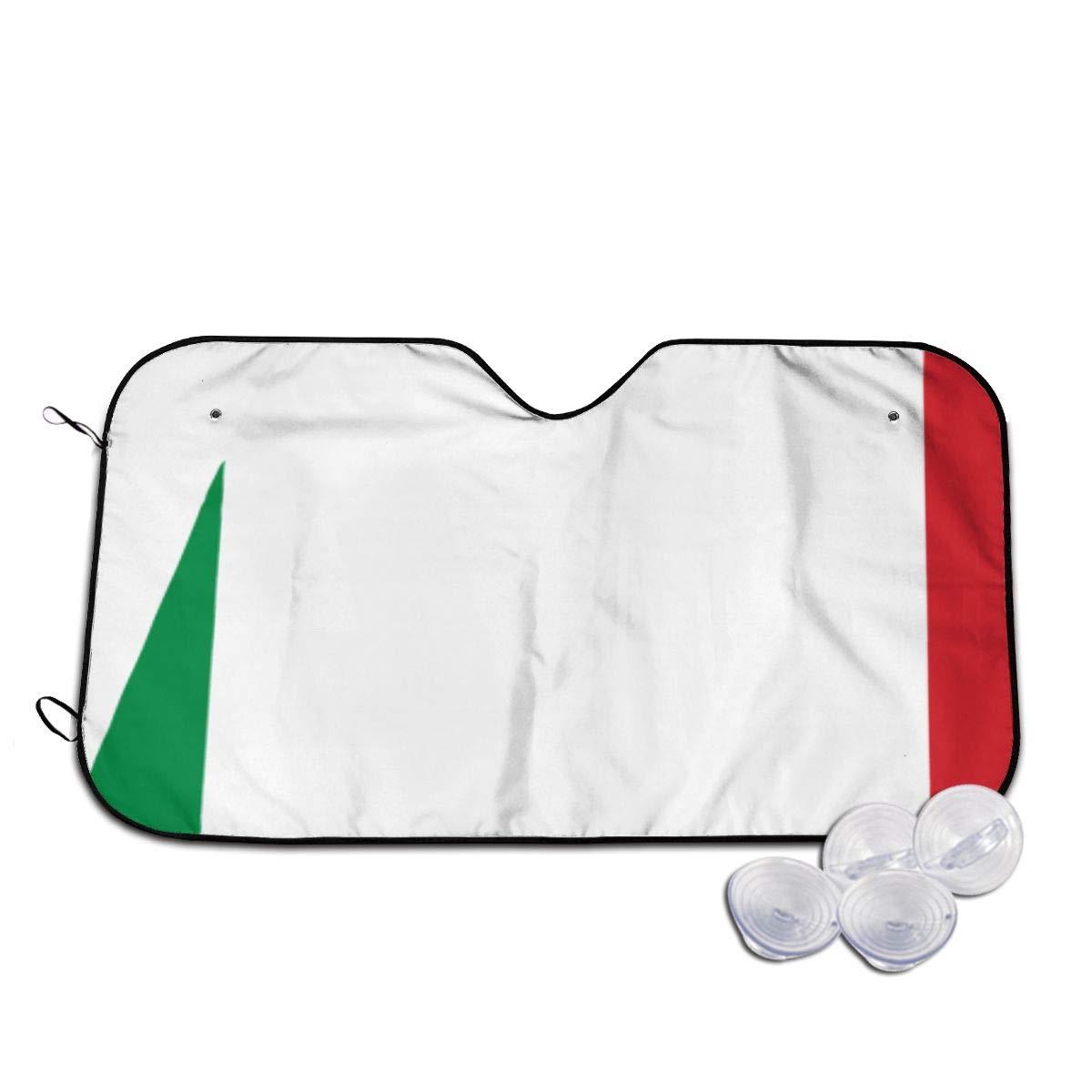 Not applicable Auto Sonnenschutz Windschutzscheibe Italien Italienische Flagge Sonnenschutz F/ür Auto Faltbare Uv Ray Reflektor Frontscheibe Schild Abdeckung,H/ält Fahrzeug K/ühl,70x130Cm