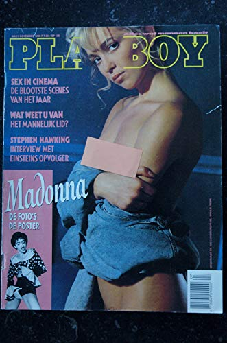 PLAYBOY NEDERLAND 1990 NOVEMBER COVER MADONNA 8 PAGES DE FOTO'S + POSTERS 3 PAGES