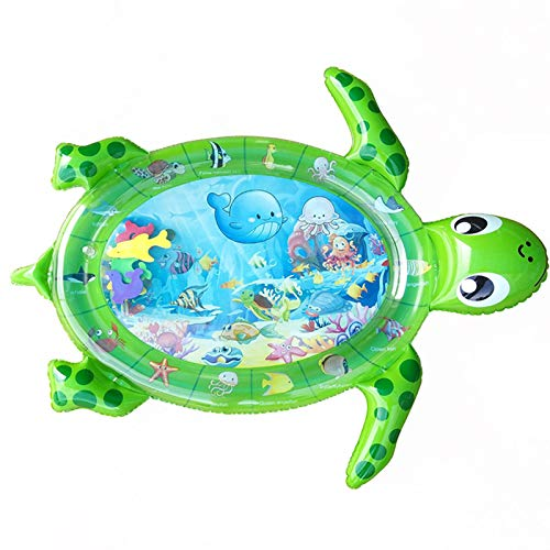 WZDTNL Estera inflable para barriga, cojín de agua en forma de tortuga, estera de juego de agua premium para niños
