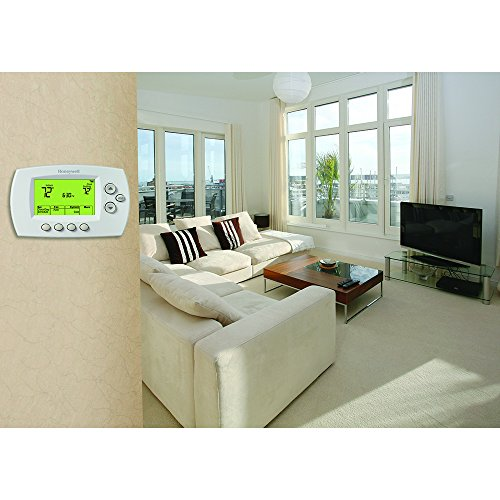 Honeywell Home Wi-Fi 7-Day Programmable Ther   mostat (RTH6580WF), Requires C Wire, Works with Alexa
