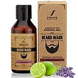 Glamorous Hub Spruce Shave Club Beard Shampoo & Wash (100ml) con aloe vera y vitamina E para una barba más limpia y fuerte - Bergamota y lavanda