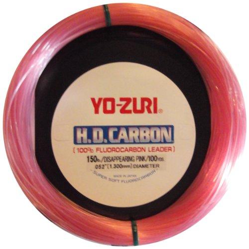 Yo-Zuri 30-Yard HD Fluorocarbon Leader Line, Pink, 15-Pound