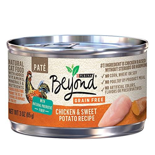 Purina Beyond Grain Free, Natural Pate Wet Cat Food, Grain Free Chicken & Sweet Potato Recipe - (12) 3 oz. Cans