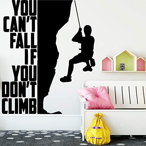 Yaonuli muurstickers, modern, klimmen, vinyl, zelfklevend, waterbestendig, voor de decoratie van het huis van de kinderkamer