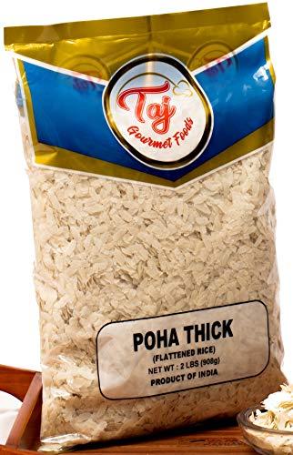 TAJ Premium Indian Poha Thick Powa Flattened Rice, 2-Pounds
