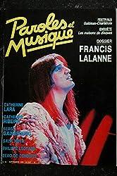 Paroles & Musique 1986 09 n° 62 SPECIAL FRANCIS LALANNE LARA RIBEIRO GAINSBOURG KEITA LEOTARD Zéro de Conduite