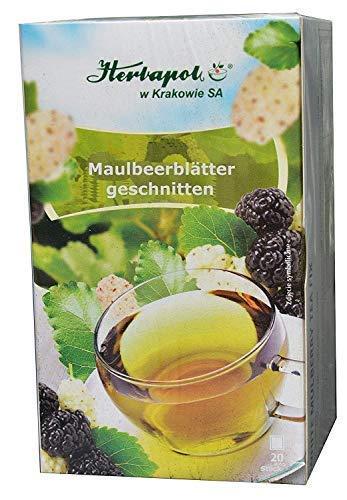 Maulbeerblätter Tee, 60 x 2g, 120g, bremsen Zuckeraufnahme auch aus Kohlenhydraten, Heißhunger, halten Blutzucker niedrig, Abnehmen, cholesterinsenker, vegan ohne magnesium kapseln