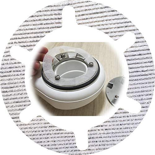 HäkchenRein Haarfänger 10er-Set | Haarsieb für Moderne Duschen/Ablaufgarnituren | Durchmesser: 11 cm | Passt für VIEGA, AlcaPLAST, UVM.