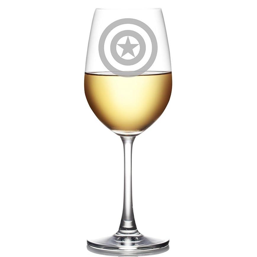 デンマーク新鮮なホイストAbbyスミス、キャプテンアメリカEngraved 18?ozワインガラス