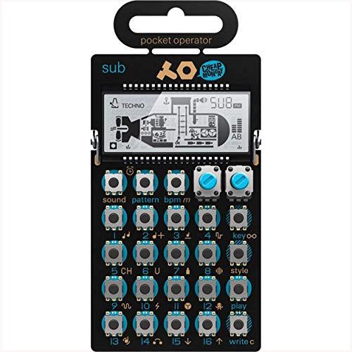 Teenage Engineering PO-14 Sub - Deep Bass Line Synthesizer Pocket Operator (16 Step Sequenzer, Micro Drum Machine, 16 Effekte, Lautsprecher, Line In/Out, LCD-Display)