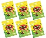 6 bolsas de huevos Reese's con mantequilla de maní y crema de 70 g