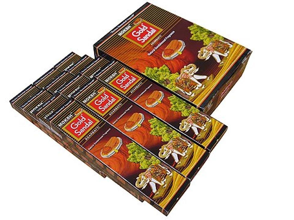概念鹿送るMoksh(モクシャ)社 Moksh(モクシャ)社 ゴールドサンダル香 スティック GOLD SANDAL 6箱セット