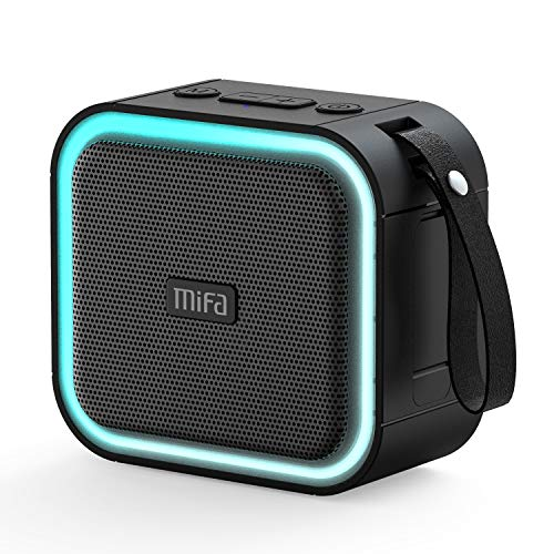 MIFA F50 Altavoces Bluetooth Portátiles, Altavoz LED RGB SoundBox Inalámbrica IPX7 Fiesta Ducha Sonido HD Bass, Compatible con Micro SD Aux-in Llamada Manos Libres