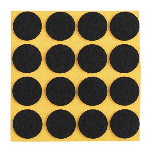 peha Filzgleiter - Kratzschutz f. Vasen und Deko-Gegenstände selbstklebend, Soft - 1,0 mm stark, schwarz, rund 20 mm (16 STK.)