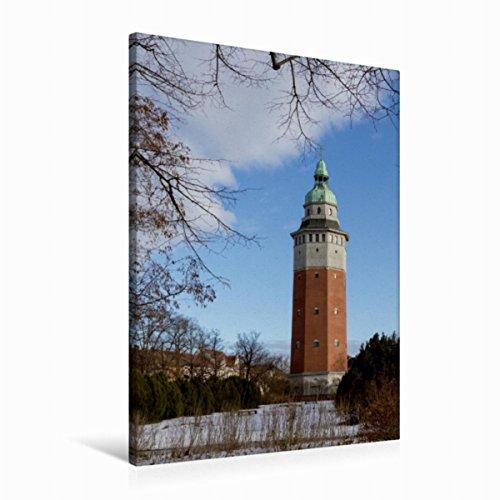 Premium Textil-Leinwand 60 x 90 cm Hoch-Format Wasserturm in Finsterwalde   Wandbild, HD-Bild auf Keilrahmen, Fertigbild auf hochwertigem Vlies, Leinwanddruck von Birgit Seifert