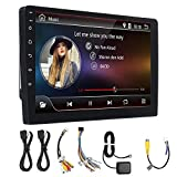 Car Stereo 10.1 Pollici 2 DIN for Android 8.0 Auto Stereo Radio Player 4 Core 2 + Schermo 32G Touch 4G Bluetooth FM AM RDS Radio GPS Car Multimedia Playe (Color : Black, Size : One Size)