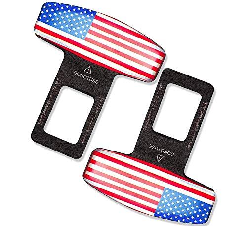 Car Seat Belt Clip(2 Pack), Mars Space Universal Seat Belt Buckle Fashion Design Automotive Metal Seat Belts Clip Widely Compatible Car Seat Belts Accessories