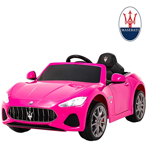 pink electric car for girls