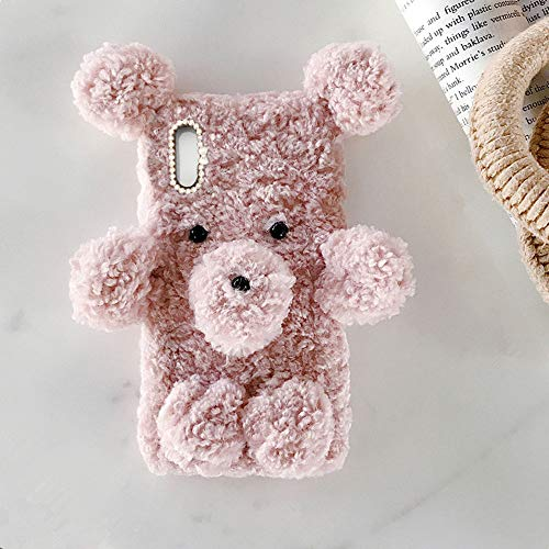 ZhiYueQun Cute Bear Style TPU para Samsung Galaxy A2 Core Funda Protectora Funda De Silicona Linda Funda…
