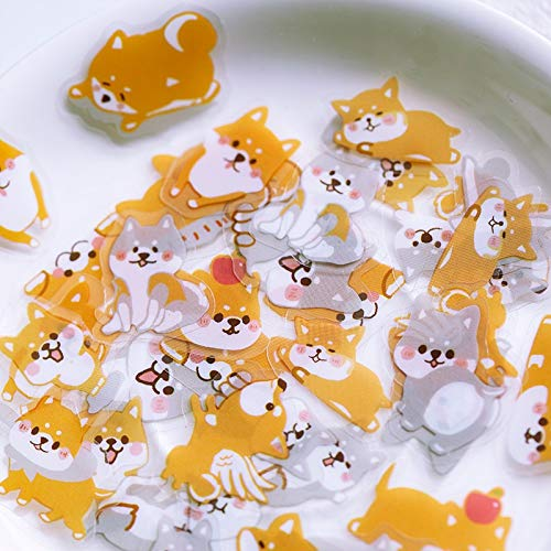 60 pcs/pack Cute Shiba Inu cat Bear Decorative PET Stickers Scrapbooking Stick Label Diary Stationery Album sticker