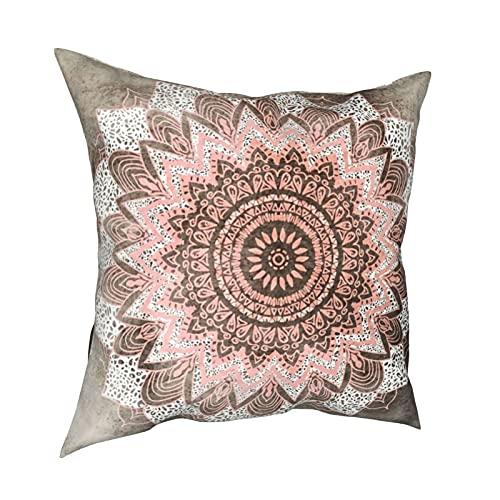 Art Fan-Design Funda de cojín Bohochic Mandala suave decorativo cuadrado Set Fundas de cojín Fundas de almohada para sofá dormitorio coche 45,7 x 45,7 cm