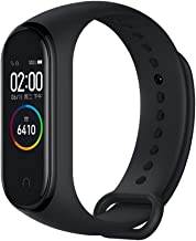 Xiaomi Mi Band 4 Activity Bracelet, Fitness Tracker Heart Rate Monitor, Activity Monitors, Smartwatch Bracelet with 0.95 Color AMOLED Screen, with iOS and Android, Black (Global Version) (black)