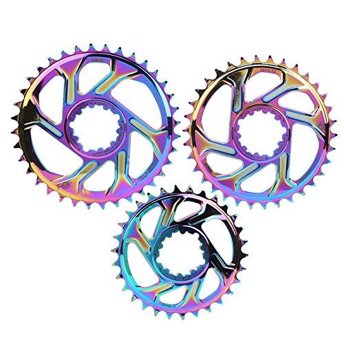 Alomejor Rotor de Freno de Disco de 6MM Bicicleta de Freno de Disco Disco Simple para Bicicleta de Carretera Bicicleta de montaña MTB BMX(30T)