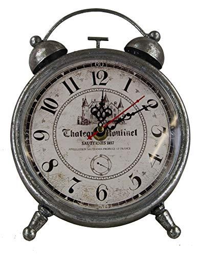 GMMH Tischuhr Nostalgie Antik Vintage Retro Metall Standuhr Dekowecker Uhr in Wecker Design (18-9...