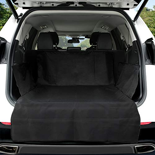 KYG Kofferraumschutz Hunde Universal Kofferraummatte mit Seitenschutz Wasserdicht Hundedecke Kofferraumschutzmatte für meisten Auto-Kofferraum mit hochwertig Robustem Material 183 * 104 * 33