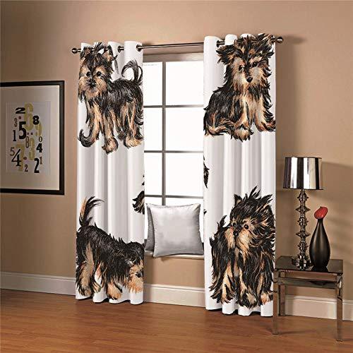 cortinas opacas salón 2x 2