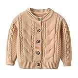TOUSHIUHUS Autunno Baby Boys Girls Maglioni Cardigan Casual Button Up Maniche Lunghe Toddler Infantile Lavorato a Maglia Giacche Anf073102-31 24m