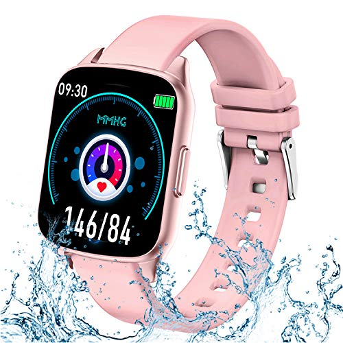 GBD Smart Watch for Women Men, IP67 Waterproof Sport Activity Fitness Tracker Watch with Pedometer Heart Rate Blood Pressure Oxygen Monitor Calorie Counter for Kids Students Teens iOS Android Phone