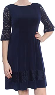 blue lace dresses with sleeves
