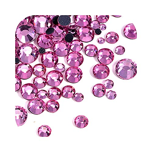 Ss6-Ss30 Muchos colores Dmc Rhinestones Iron-On Rhinestone Glass Strass vestido de novia...