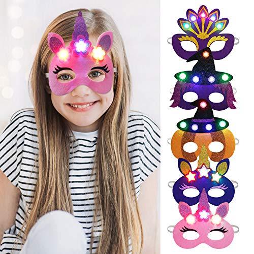 Outgeek Halloween Carnaval Navidad Máscara Pavo Real