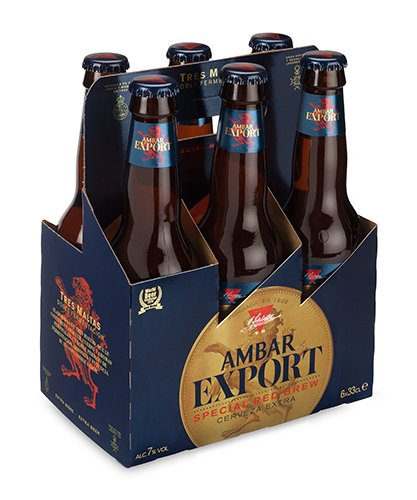 Ambar Export Cerveza - Paquete de 6 x 330 ml - Total: 1980 ml