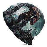 JONINOT Darksiders Warrior Knit Hat Multifuncional Ligero Casual Beanie Hat Skull Cap Soft Light Transpirable Unisex Sombreros Negro